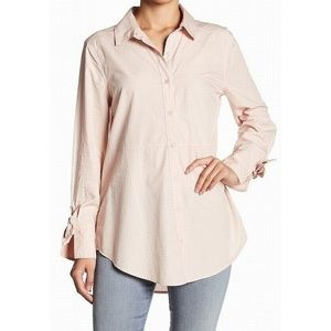 ABOUND oversized tie sleeve button down shirt